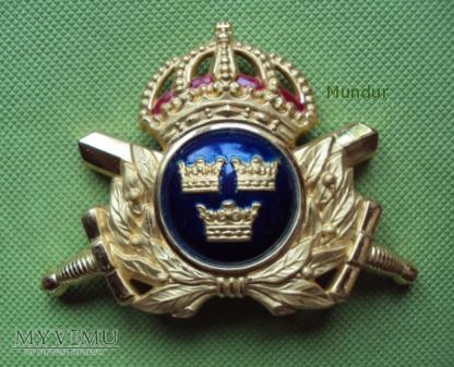 Szwecja - godło oficerskie na czapkę