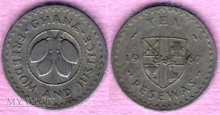 Ghana, 10 PESEWAS 1967