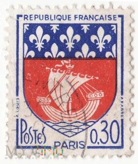 Znaczek z serii herby miast Francja 1965