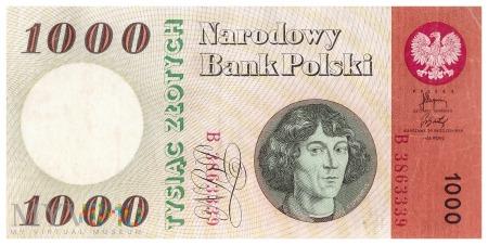 Polska - 1 000 złotych (1965)