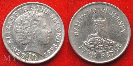 Jersey, 5 Pence 1998