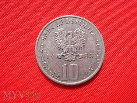 10 złotych 1983 rok (Bolesław Prus)