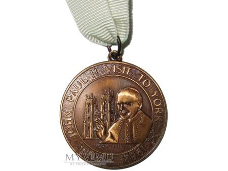 Wizyta Jana Pawła II w Yorku medal 1982