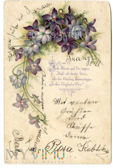 Pocztówka artystyczna - pocz. XX wieku