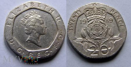 Wielka Brytania, 20 PENCE 1989