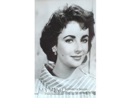 1953 Elizabeth Taylor - pocztówka filmowa Vintage