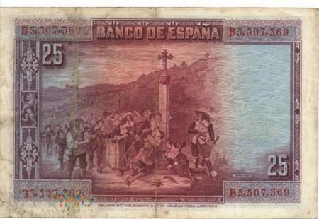 HISZPANIA 25 PESETAS 1928