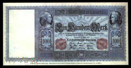 100 marek, 1910