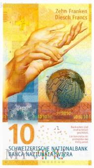 Szwajcaria - 10 franków (2016)