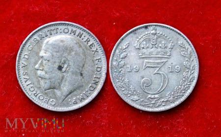 Wielka Brytania, 3 pence 1919