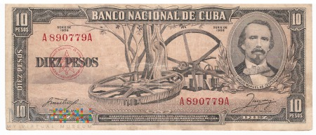 Kuba - 10 pesos (1956)