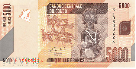 Duże zdjęcie D.R. Konga - 5 000 franków (2013)