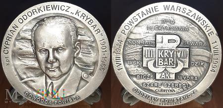 277.KRYBAR - Kapitan Cyprian Odorkiewicz.Srebrzony