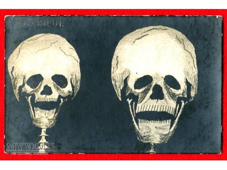 Trupie Czaszki - Zaślubieni i śmierć pocztówka