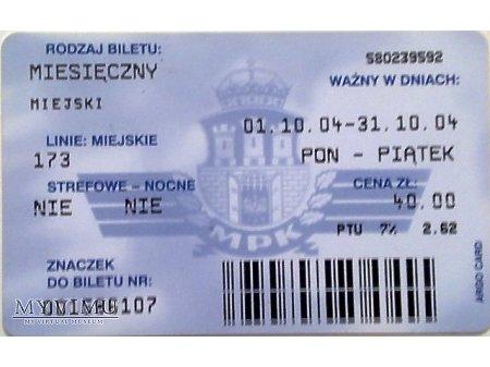 Bilet MPK Kraków 31