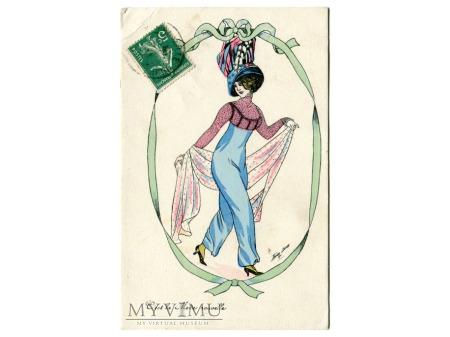 Xavier SAGER Nowa Moda Spódnico - spodnie c. 1915