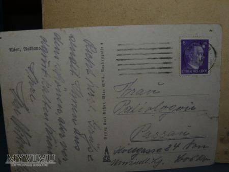 pocztówka z Wiednia-1943 r.