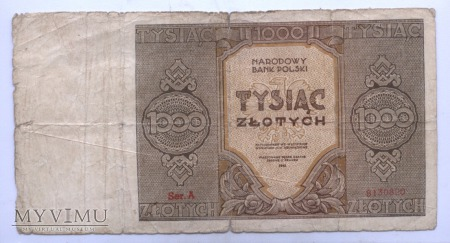Duże zdjęcie 1000 złotych - 1945