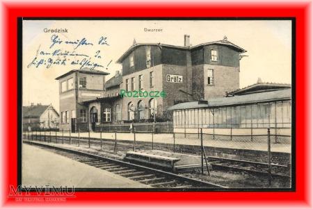 GRZODZISK WIELKOPOLSKI Grätz Dworzec kolejowy