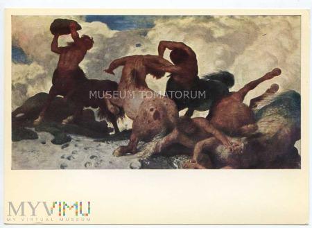 Bocklin - Walka Centaurów - I ćw. XX wieku