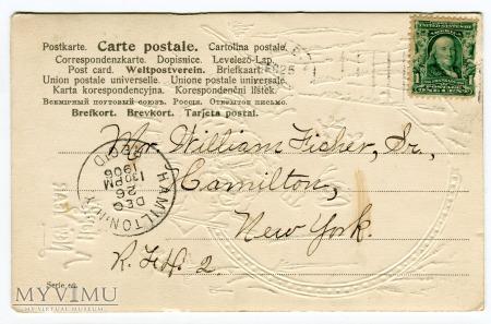 1906 Życzenia Skrzaty Nowy Rok Krasnale