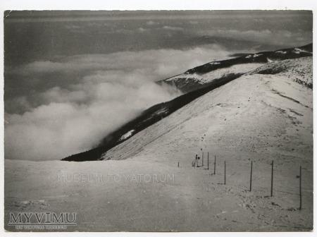 Karkonosze widok ze Śnieżki 1970