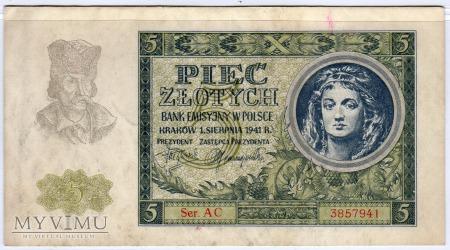 01.08.1941 - 5 Złotych