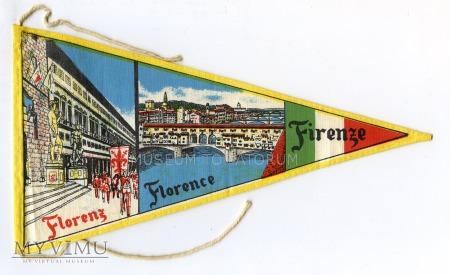 Duże zdjęcie Proporczyk souvenir - Włochy Florencja 1963