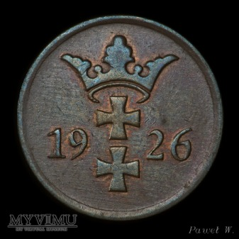 Wolne Miasto Gdańsk - 1926 2 Pfennige