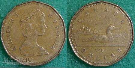 Duże zdjęcie Kanada, 1 dolar 1989