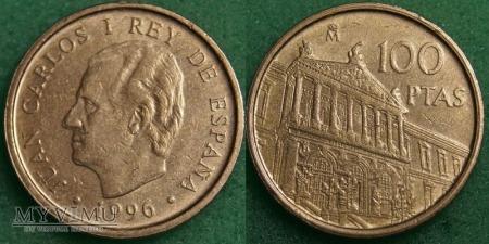 Hiszpania, 100 PESETAS 1996