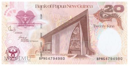 Papua Nowa Gwinea - 20 kina (2008)
