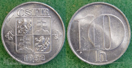 Czechosłowacja, 10 Haléřů 1992