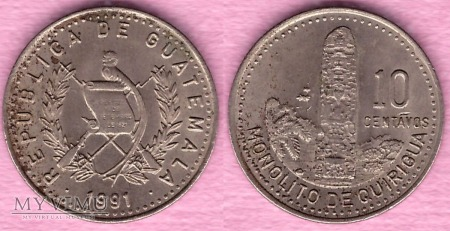Gwatemala, 10 CENTAVOS 1991