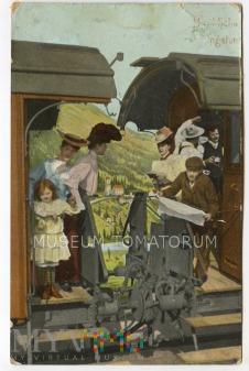Wesoły pociąg - 1909