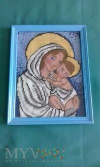 Duże zdjęcie Maryja z dzieciątkiem.