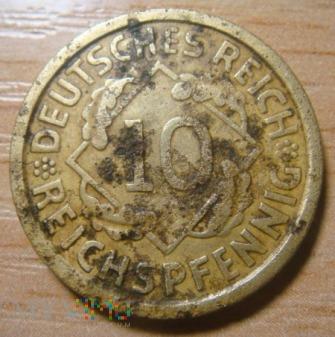 10 Reichspfennig 1925 A ,Republika Weimarska