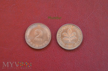 Moneta niemiecka: 2 pfennig