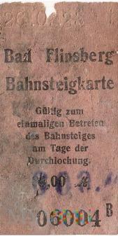 Bad Flinsberg - Bilet peronowy