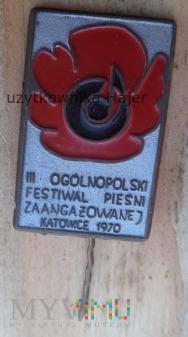 Festiwal Pieśni Zaangażowanej Katowice 1970