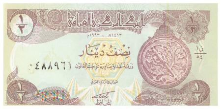 Irak - 0,5 dinara (1993)