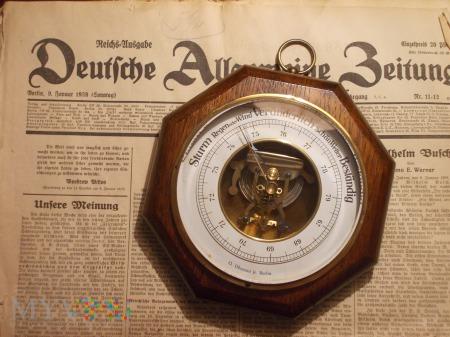 Duże zdjęcie Barometr - O.Obenaus jr. Berlin