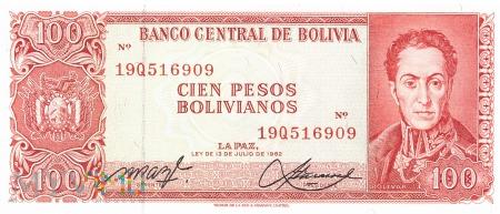 Boliwia - 100 pesos (1962)