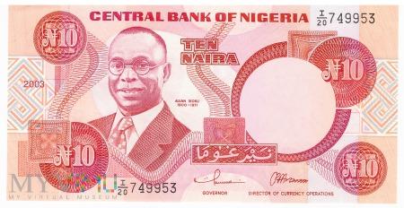 Nigeria - 10 naira (2003)