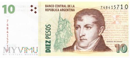 Argentyna - 10 pesos (2013)