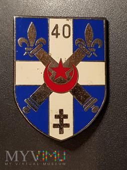 40 Pułk Artylerii Francuskiej Odznaka Pamiątkowa