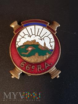 Odznaka 66 Pułku Artylerii Afrykańskiej - Francja