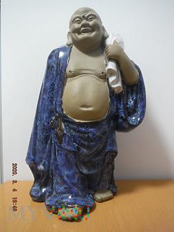 Bardzo duży Budda z białym workiem.