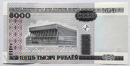Białoruś 5000 rubli 2000
