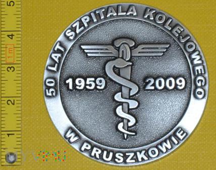 Medal kolejowy - usługowy Szpit. Kol. w Pruszkowie